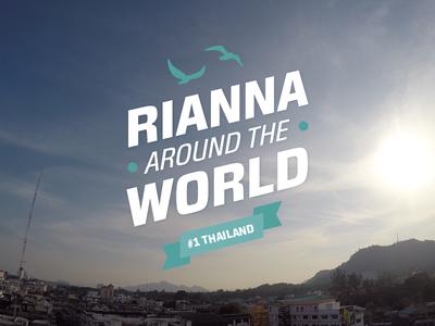 Rianna Around The World - Logo logo identity type flat logotype simple typography happy branding travel birds