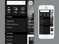 Berlingske News Mobile - The Menu
