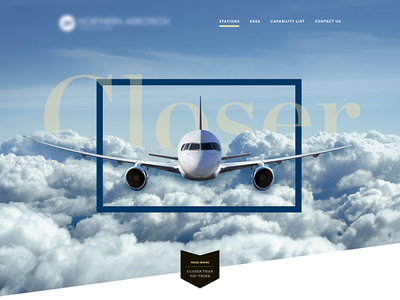Airline  minimalistic simple one page company blue aerotech sky airline plane
