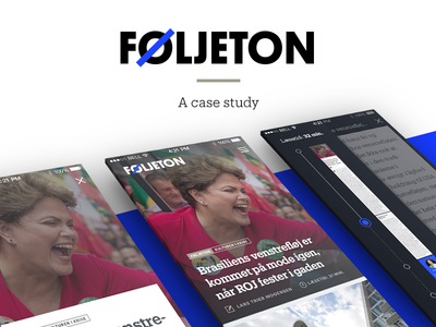 Føljeton newspaper ux timeline ui simple flat typography icons modern mobile magazine news