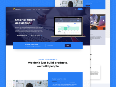 Vsource Website recruitment landingpage blue platform ui interface web website
