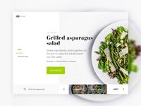 Recipe Homepage Concept UI