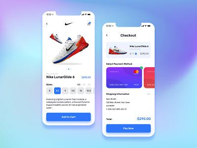 Daily UI 002 - Credit Card Checkout user interface uiux ecommerce mobile app figma application app nike app shoes app shoe app concept product page uxdesign uidesign nike checkout credit card dailyui ux ui