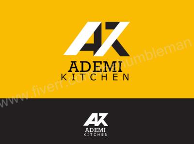 Ademi kitchen web vector minimal logo illustrator illustration graphic design flat design art