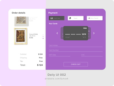Daily UI Challenge 002 daily 100 challenge figmadesign checkout payment figma design uidailychallenge002 uidaily002 uidailychallenge uidaily ux uxdesign uiux uidesign ui