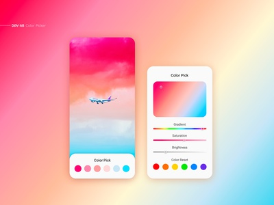 Color Picker color pick daily ui gradient app ui ui design uxui ui ux mobile web app design app picture colorful color palette picker colors color color picker