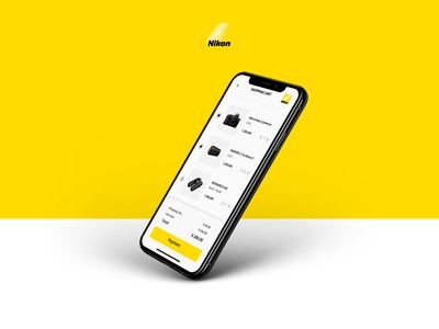 Nikon App Shopping Cart simple clean interface nikon brand cart shopping cart shopping app shopping cart ui app mobile uxui ui ux ui design app design payment design payment app simple interface