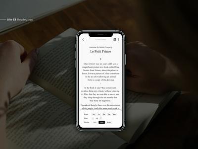 Reading App article minimal mobile app clean mobile app interface book designs app text app design design ui design uxui ux ui book app reading book reading app reading