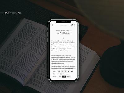 Reading App reading book reading app book app ui ux uxui ui design app deisgn text design book app interface mobile clean mobile app app minimal article design article page article