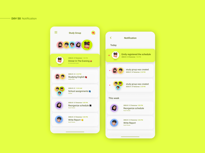 Notification mobile app mobile design presentation mail simple clean meeting schedule mobile interface app design daily ui ux uxui ui ui design app design notifications notification