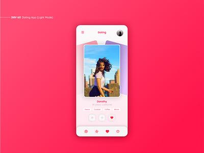 Dating App (Light Mode) web figma dating simple inspiration daily ui ux ui uxui design mobile app ui design app design mobile app dating apps datingapp dating app