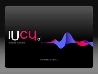 Lucy ai™ sketch studio xd adobe xd figma smart voice assistant siri alexa ux logo typography ui logo design homepage branding design artificial intelligence ai