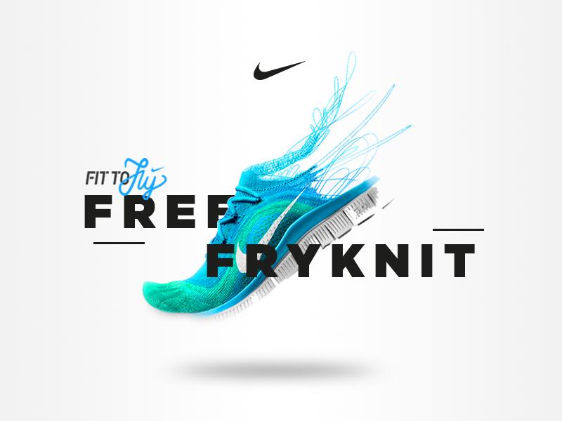 Nike Free Fryknit - Microsite grid layout interaction free fryknit minimal flat user interface visual ux ui nike