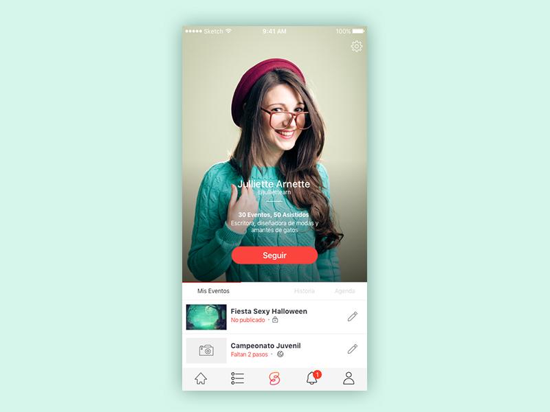 Profile - Spotloud iphone events interface profile product design visual design user experience ios