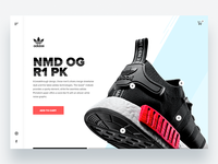 Adidas Microsite Concept - Daily UI Challenge 1/365