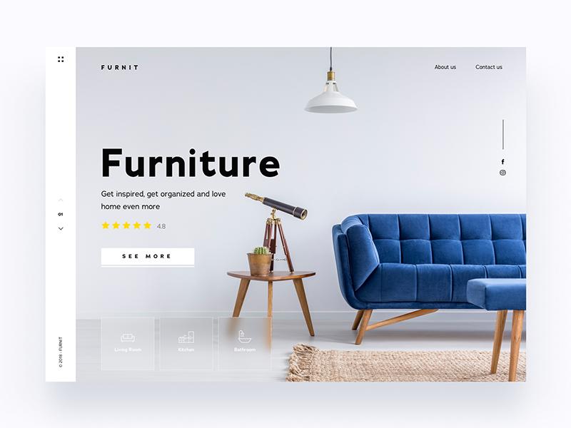 Website Furniture Company - Daily UI Challenge 3/365 ixda ios minimalist furniture clean web design user interface user experience ux design ui design ui ux