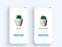 Plantr app iphone x   daily ui challenge 6 365