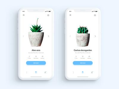 Plantr app iPhone X - Daily UI Challenge 6/365