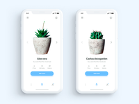 Plantr app iPhone X - Daily UI Challenge 6/365