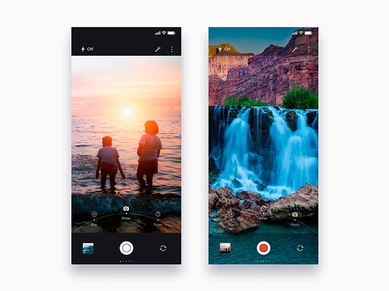 Photo app for iPhone X - Daily UI Challenge 10/365 ux ui ui design ux design user experience user interface interaction design clean email app app design photo ixda