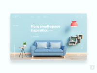 Landing page for interior design company    daily ui challenge 11 365