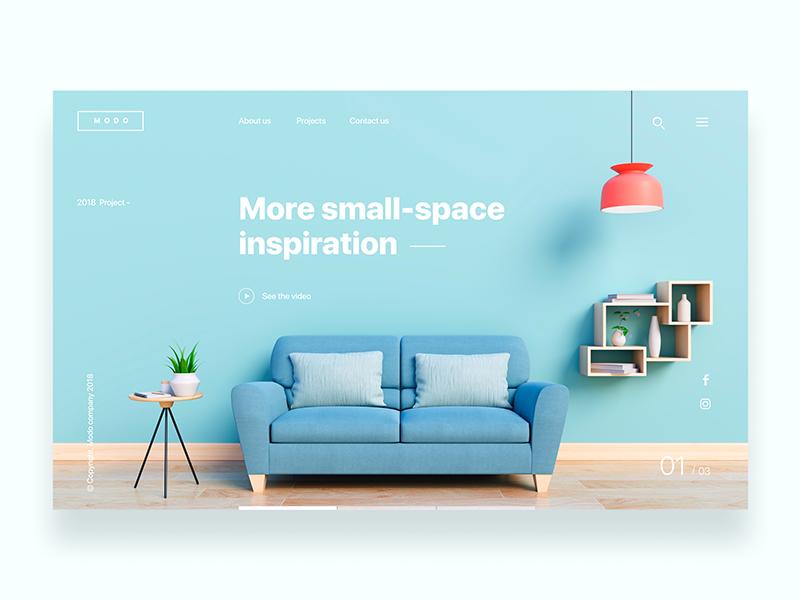 Landing page for design company  - Daily UI Challenge 11/365 ixda furniture interior design web design clean interaction design user interface user experience ux design ui design ui ux