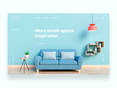 Landing page for design company  - Daily UI Challenge 11/365