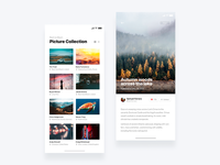 Social photo app  - Daily UI Challenge 12/365