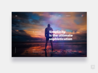 Landing page for sport company   daily ui challenge 18 365