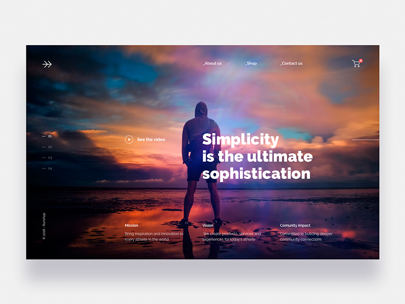 Landing page for Sport company - Daily UI Challenge 18/365 ux ui ui design ux design user experience user interface interaction design landing page ixda photo travel app web design