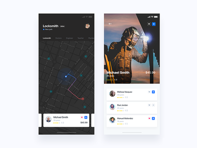 App to find help - Daily UI Challenge 19/365