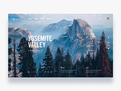 Discovery travel trekking website - Daily UI Challenge 21/365