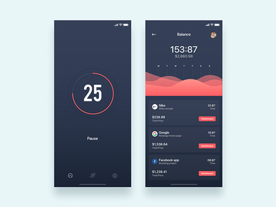 Timer for remote work - Daily UI Challenge 23/365