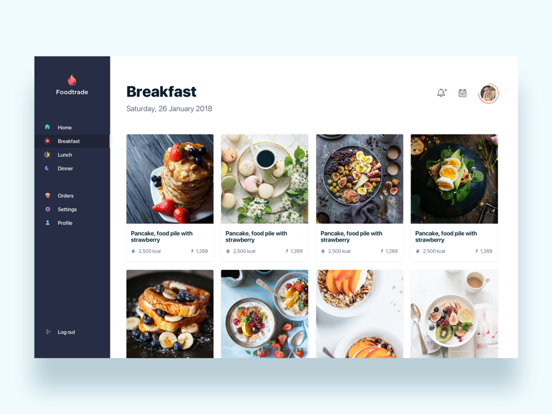 Foodtrade, food recipes online  - Daily UI Challenge 27/365 ixda interaction design user interface user experience ux design ui design ui ux app design thinking recipe food