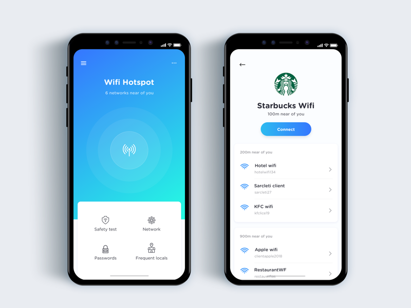 Wifi discovery app  - Daily UI Challenge 35/365 wifi discovery interaction design user interface user experience ux design ui design ui ux app