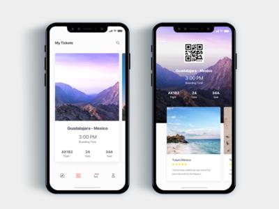 Airplane ticket app- Daily UI Challenge 38/365