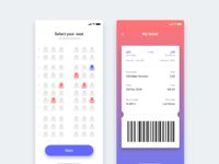 Bus seat reservation app   daily ui challenge 39 365
