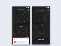 Parking car app   daily ui challenge 42 365