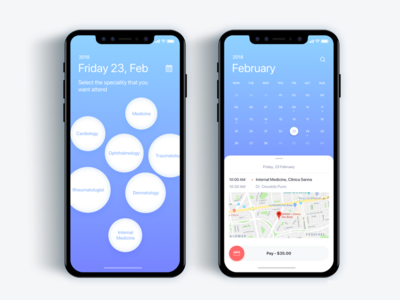 Appointment with a doctor app - Daily UI Challenge 45/365