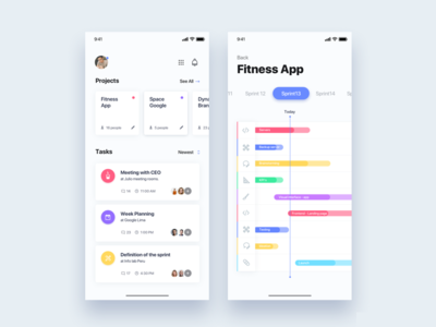 Management team sprint app - Daily UI Challenge 48/365