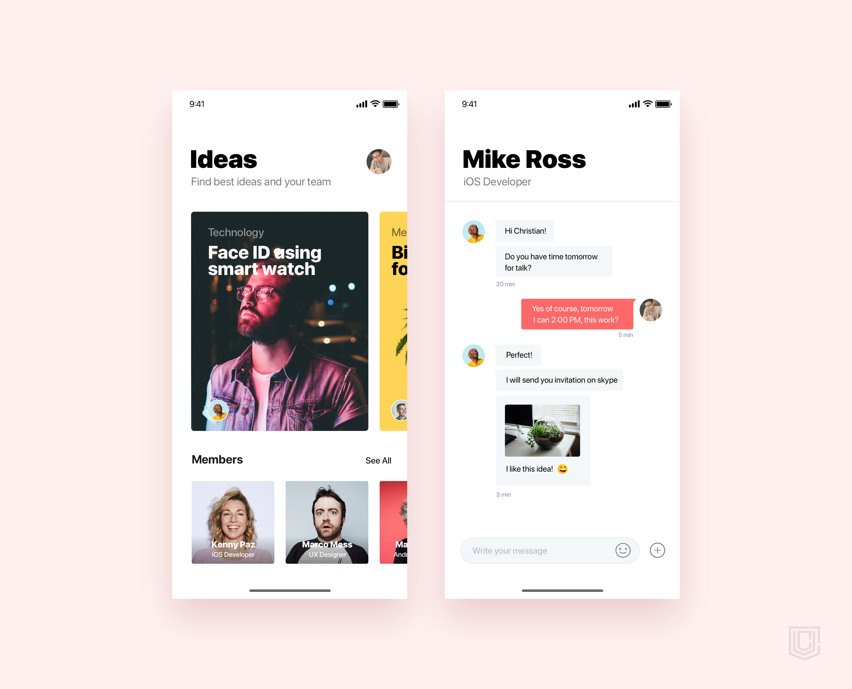 Discovery ideas and people for team   daily ui challenge 49 365
