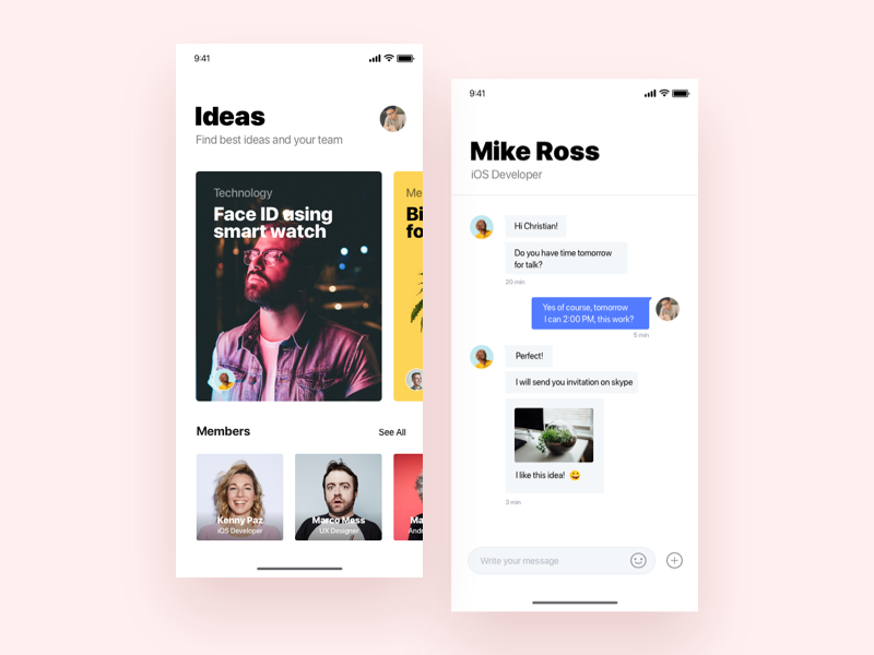 Discovery ideas and people for team - Daily UI Challenge 49/365 iphonex management project sprint design app ux ui ux design user experience interaction design