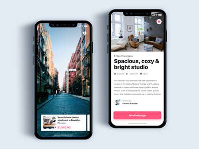 Book apartment using AR  - Daily UI Challenge interaction design user experience ux design ui ux augmented reality vr minimalist app web design