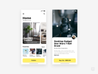 App for find decoration ideas   daily ui challenge