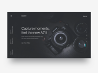Landing page for Sony - Daily UI Challenge