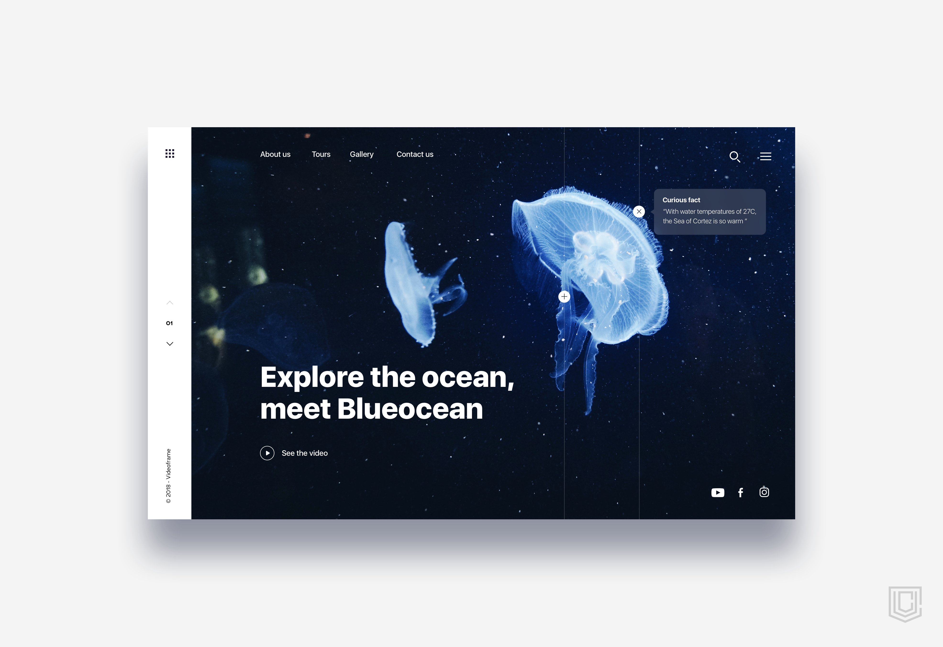 Landing page diving in ocean   daily ui challenge