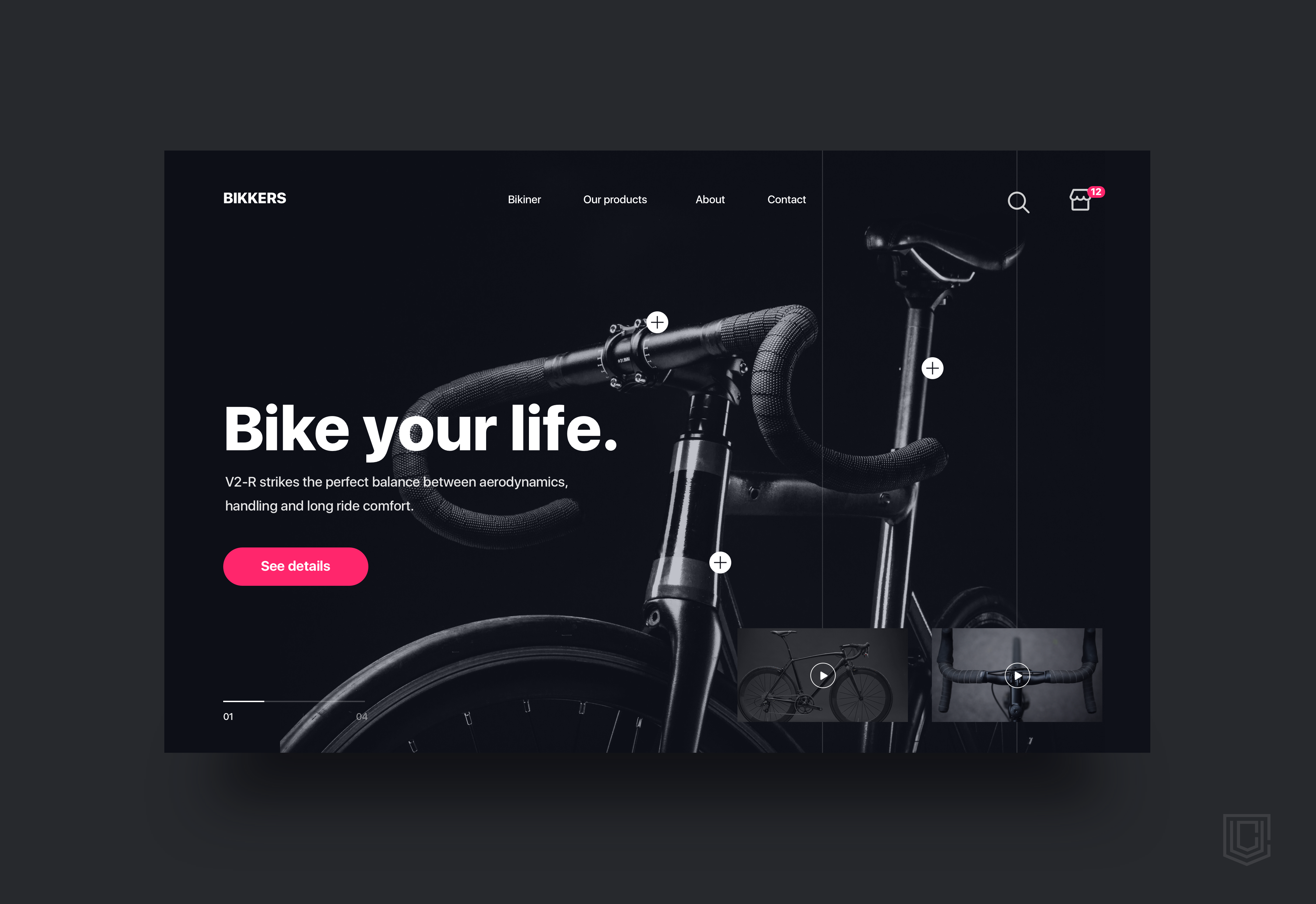 Bikkers landing page   daily ui challenge