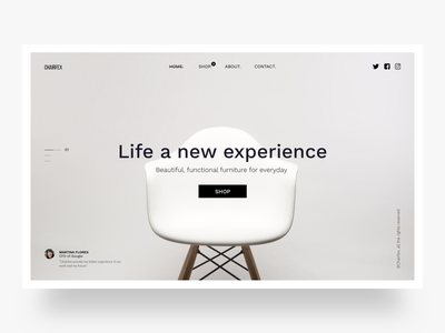 Chairfex, landing page website design proposal startup product ux graphic design animacion interaction clean app visual design userinterface user experience website banner web design ecommerce chair product design clean uidesign web design website landing page ui