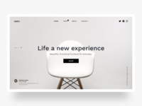 Chairfex, landing page website design proposal