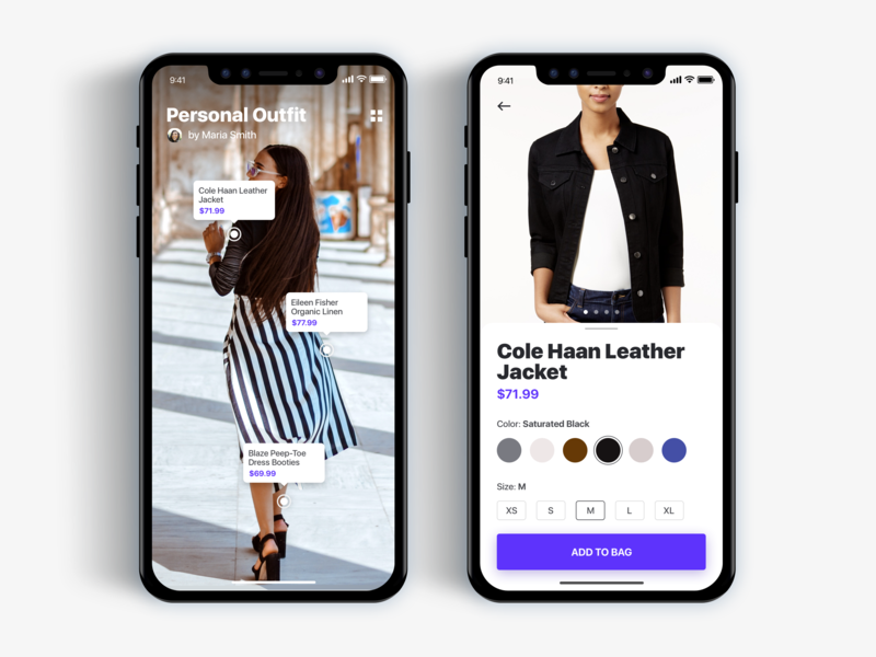 Shopping Using Augmented Reality - Daily UI challenge clean app app concept clean app design design app ios iphonex ux animation challenge interface ui design user interaction clean ecommerce shopping augmented reality app user interface user experience ux ui